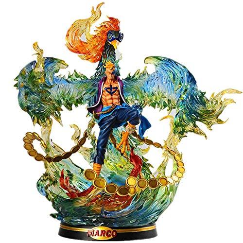 ONE Piece Whitebeard Pirates Marco Figur Modell Spielzeug Für Kinder Spielzeug Statue PVC Dekoration 40CM