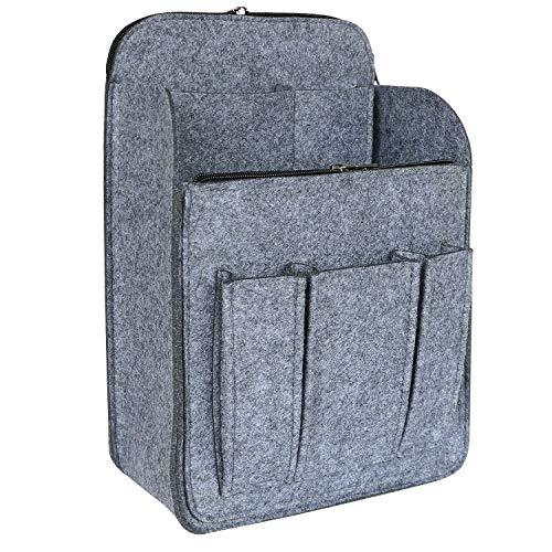 HyFanStr Filz Rucksack Organizer mit Reißverschlusstasche, Handtaschen Organizer Taschenorganizer für Rucksack Medium Grau