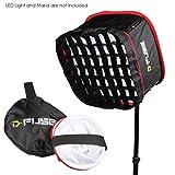 Kamerar D-Fuse Combo: Large LED Light Panel Softbox & D-Fuse Softbox Grid, 12