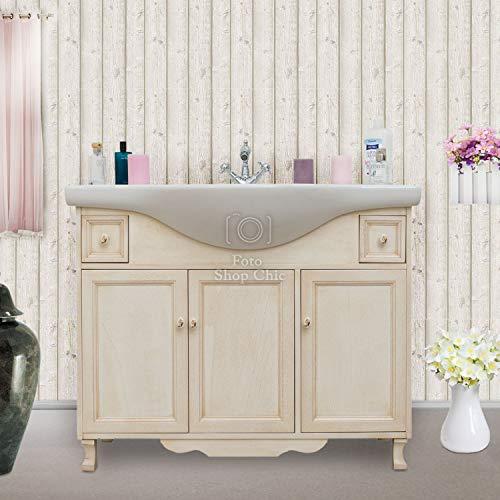 Shop Chic Base Mobile Bagno con lavabo 105 cm in Legno Pastello Classico Moderno
