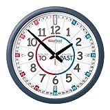 "EasyRead Time Teacher Children's Wall Clock ERCC-EN Past & to Face, 14"" Diameter"