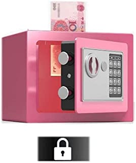 Cabinet Safes, Safe Box, Medium Safes for Home Security Box with Code & Emergency Override Keys Built-in Alarm, Wall Or Fl...