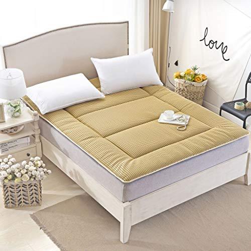 Hongyan G 4D colchón transpirable individual doble alojamiento de estudiante acolchado para dormir casa dormitorio tatami Mat verano antibacteriano transpiración (color camello, tamaño: 150 x 200 cm)