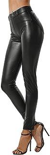 cinnamou Damen Wetlook Leggings Stretch PU Lederhose Damen Dünne Leder Hosen Plus Size Lederhose Hohe Bombe Schlanke Hose