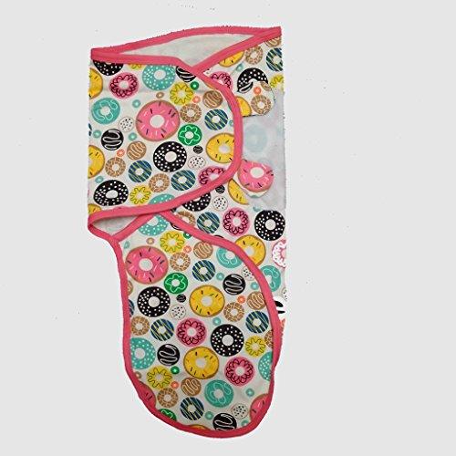 Cobertor para bebê banana, cobertor de envolver pequeno a médio 3,2 a 6,3 kg. Conjunto de envoltório de bebê ajustável de algodão macio, pequeno a médio, design de donut da Amazon