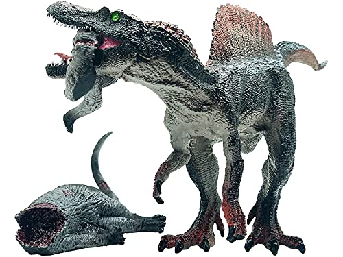 Gemini&Genius Jurassic Dinosaur Toys Spinosaurus and Tenontosaurus Carcass Figurine with Movable Jaw 12 Inches Dinos World Action Figure Toys Party Gift for Kids