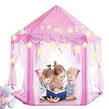 Magicfun tienda de princesa, juego de castillo niñas, interior tienda de campaña para niños al aire libre gran playhouse con pequeñas luces de estrellas, juguetes para niños 53 '' x 55 '' (dxh)