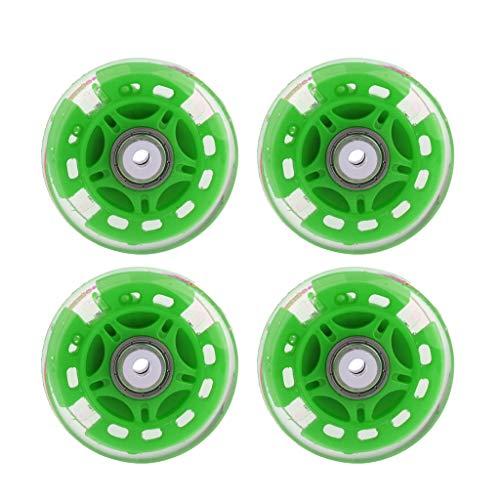 Injoyo 4Pcs Inline Skating Flash Roller Wheels Schiebe Skate Wheels Mit Kugellagern - Grün