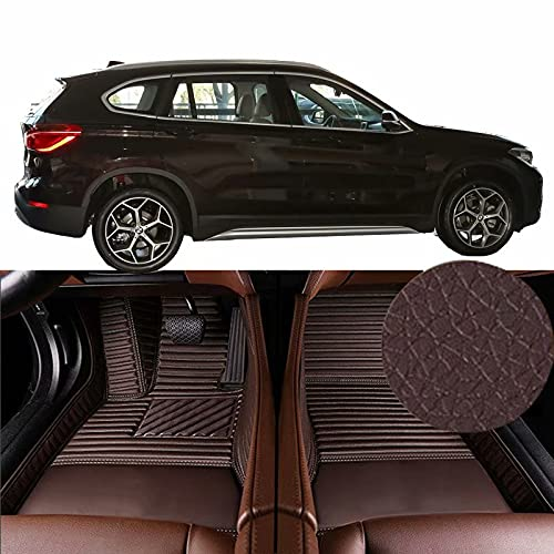 QCYP Alfombrillas para Coches Adecuado para BMW X1 sDrive18Li -Neumático: SUV de 5 Puertas y 5 plazas 225/50 R18 2019 Alfombrillas para Todo Tipo de Clima Alfombras de Auto,LHD