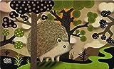 Toland Home Garden Happy Hedgehog 18 x 30 Inch Decorative Cute Floor Mat Animal Forest Doormat