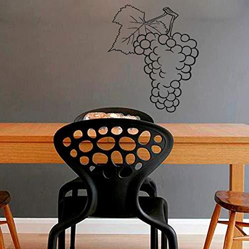 Adhesivo decorativo para pared con diseño de frutas de uvas, de 59 x 45 cm