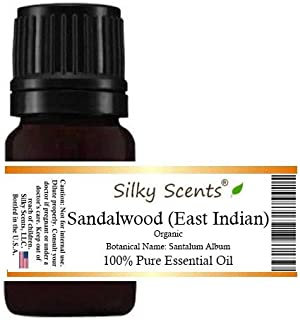 Sandalwood (East Indian) Organic Essential Oil (Santalum Album) 100% Pure Therapeutic Grade - 5 ML