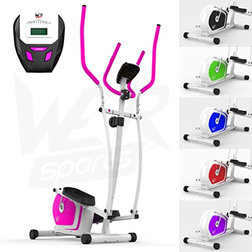 We R Sports Elliptical Cross Trainer & Exercise Bike 2-IN-1 Home Cardio Workout (Pink)