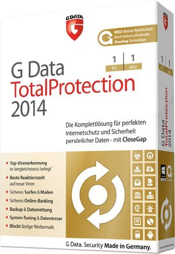 G Data total protection 2014 (1 PC, 1 Jahr) [import allemand]