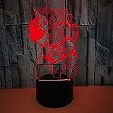 FREEZG lampara quitamiedos infantil Anime niños y dibujos animados USB Recargable Infantil LED Brillos Ajustables Colores RGB con Mando Luz para Bebe Silicona Suave para Habitación Dormitorio Sala