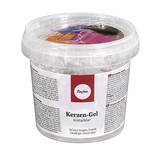 """Rayher gel à bougie incolore €"""" gel pour fabrication de bougie €"""" matériel pour fabriquer des bougies €"""" idéal pour les arts créatifs €"""" boîte de 300 g, environ 365 ml €"""" couleur : transparent"""
