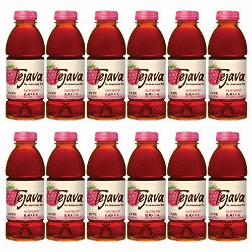 Tejava Unsweetened Raspberry Black Iced Tea, 16.9oz PET Bottles, Award Winning, Non-GMO-Verified, from Rainforest Alliance-Certified farms (12 Pack)