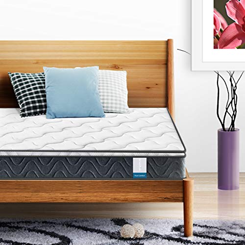 Single Mattress, Inofia Super Comfort Hybrid Innerspring Twin Mattress Set with 3D Knitted Dual-Layered Breathable Cover, Twin Size