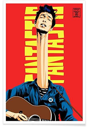 Juniqe® Affiche 60x90cm Bob Dylan Pop Art - Design Dylan Mr. Fantastic (Format : Portrait) - Poster, Tirages d'art & Tableaux par des Artistes indépendants créé par Butcher Billy