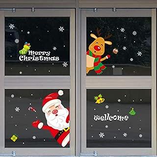 Christmas Decoration - Christmas Window Sticker/Anti-Static Vinyl Self-Adhesive Wall Decal/Christmas Decoration Sticker(Door sticker-26.3x38.5in)