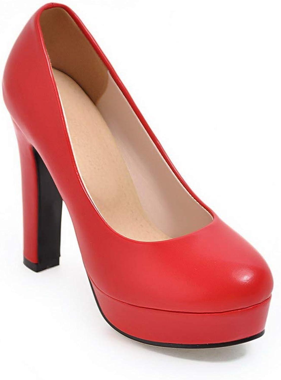 BalaMasa Womens Dance-Ballroom Solid Dress Urethane Pumps shoes APL10720