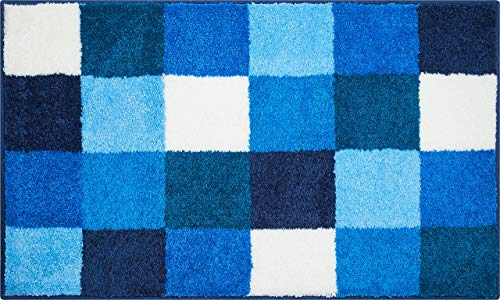 Grund Bona Tappeto per Il Bagno, Poliacrilico Supersoft, Blu, 60x100 cm