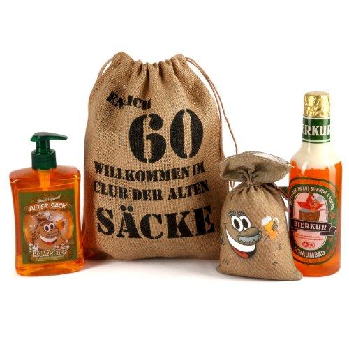 Lustapotheke® Geburtstagsgeschenk Set Bier Spa zum 60. Geburtstag (4-teilig)