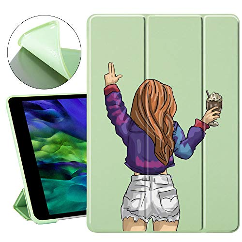 YYLKKB For iPad mini 5 4 3 2 1 iPad Air 4 3 2 1 iPad Pro 11-inch iPad 2019 10.2-inch Ultra-thin three-fold ipad automatic bright screen protective cover-1_10.5-inch iPad Pro(2017)