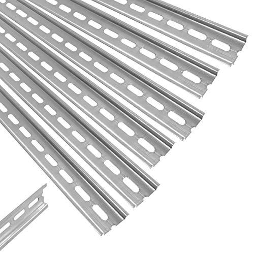 ARLI Hutschiene 6 x 1 m gelocht Stahl verzinkt 35 x 7,5 mm für Verteilerschrank Schaltschrank einbau DIN-Hutschiene Montageschiene Tragschiene profilschine 6 Stück Schiene