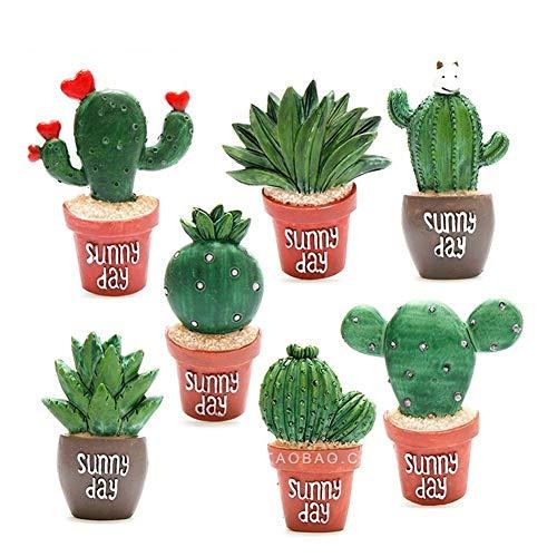 EQLEF Magneti del Frigorifero della Resina, magneti Decorativi Adesivi del Cactus della succulente Magnete del Frigorifero di Telefono Creativo (7)