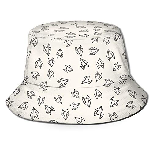 Paper Fox Origami Pattern Unisex Bucket Hat Fisherman Hat Packable Casual Travel Beach Sun Hats.