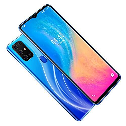 S20 Teléfono móvil con Pantalla de Gota de Agua de 6.52 Pulgadas, teléfono Inteligente de Doble Tarjeta y Doble Modo de Espera con cámara de 2MP, teléfono Celular Azul 2 + 16G para Android 5.1(Azul)