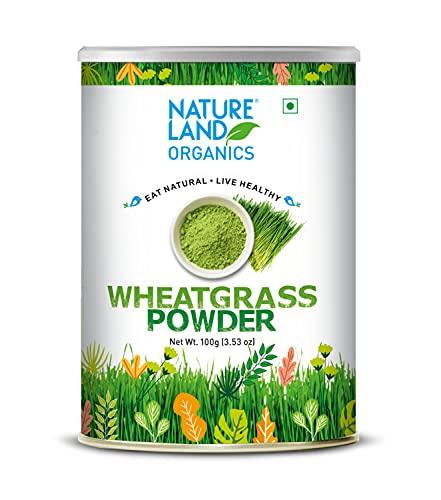 Natureland Organics Wheat Grass Powder 100 Gm - Organic Healthy Powder