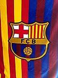 FCB FC Barcelona Plush Raschel Throw Blanket with Sherpa Lining 50X60