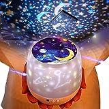 Lámpara proyector infantil estrellas,lámpara de nocturna infantiles luz del proyector con 6 efectos de luz y led 360 grados rotación, lámpara proyector para cumpleaños,navidad, cuarto de los niños