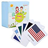 SIMPLE, COLORFUL AND FUN: This fantastic selection of 70 different country flags will provide you and your little ones with hours of educational entertainment. KIDS LEARN THROUGH PLAY: The card holding names of different countries of the world can be...