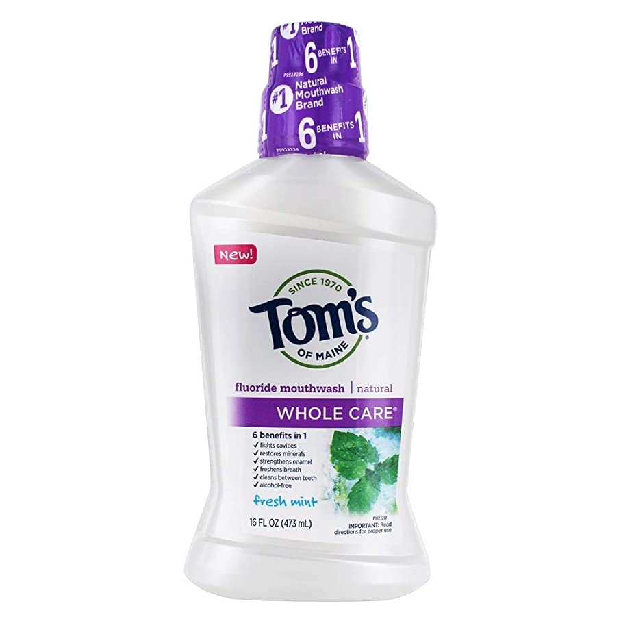 署名ミシン便宜Tom's 全体のケアフッ化物洗口液、フレッシュミント、16液量オンス
