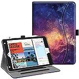 Fintie Case for iPad Mini 5 2019 / iPad Mini 4 - [Corner Protection] Multi-Angle Viewing Smart Folio Cover w/Pocket, Pencil Holder, Auto Wake/Sleep for iPad Mini 5th Generation 7.9', Galaxy