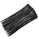 LULIJP Cable Lazos Bolso de plástico Auto-Bloqueo Negro Cremallera Envoltura Correa Nylon Cable Lazo Set 1000pcs (Color : Negro, Size : 3X100mm)