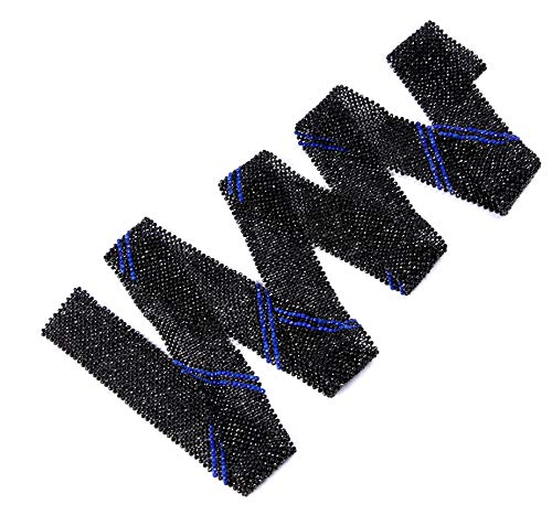 Black Spinel & Lapis Lazuli Gemstone Beaded Belt  100 cm length unique design  Shiny Belt  Valentines Gift  Multi purpose  Jewelry making