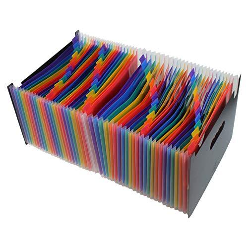 NgMik Organizador de Archivos de Carpeta de acordeón Carpetas de Archivos de expansión de Bolsillo portátil Multicolor Acordeón Administrador de Archivos Caja portátil