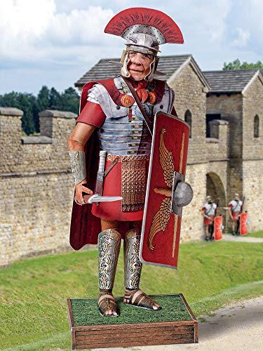 Forum Traiani Zenturio Bastelbogen römischer Soldat, Karton-Modellbau Schreiber-Bogen, DIY Bastelvorlage Centurio der Römer Armee, Papiermodelle basteln für Jungen und Mädchen