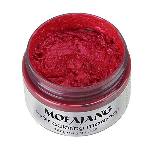 Moresave 7 Farben Unisex Haarwachs Farbstoff Einmalige Formpaste Haar Wachs