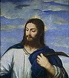 JH Lacrocon Titian - Cristo Jardinero Reproducción Cuadro sobre Lienzo Enrollado 55X60 cm - Pinturas Retrato Impresións Decoración Muro
