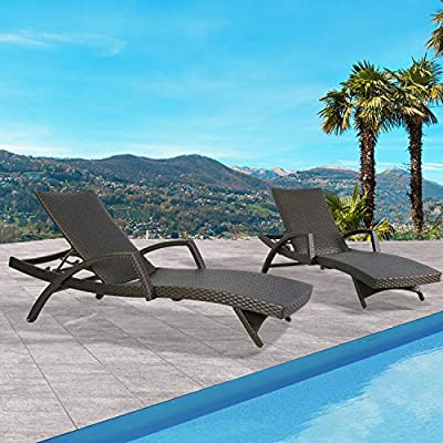Ulax furniture Outdoor 2-Pack Chaise Lounge