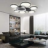 Lámpara de techo LED, moderna, sencilla, creativa, regulable, para 20 ~ 35 m2, salón, dormitorio, habitación de los niños