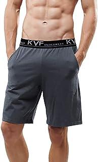 PRIMA 2 Pack Men's Pyjama Shorts Cotton Plain Sleep Shorts Pyjama Bottoms