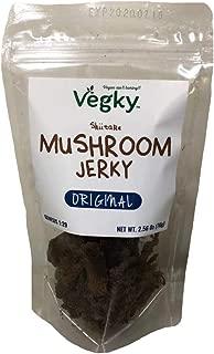 VEGKY Vegan Shiitake Mushroom Jerky ORIGINAL 70 Grams 2.56 oz Non-GMO Vegetarian Meatless Snack