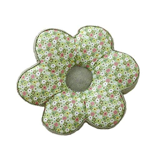 Nunubee Kissen Baumwollmaterial Blumenform zierkissen mit füllung apelt kissenhülle vintage deko Dekoration deko kissen deko wohnzimmer Autodekoration sofa cover, Floral grünes Gitter 40x40cm
