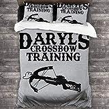 KUKHKU Daryls - Juego de cama de 3 piezas para entrenamiento con ballesta y muerte con 2 fundas de almohada
